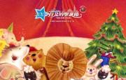 台北的圣诞节可爱圣诞插画 节日壁纸