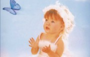 天使般的儿童 ValerieTabor Smith 作品 节日壁纸