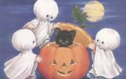 童趣的万圣节壁纸Ruth Morehead 插画集《Teenie Halloweenies》 节日壁纸