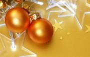 金黄色圣诞节彩球图片 圣诞树彩球图片 五彩圣诞节彩球壁纸 节日壁纸