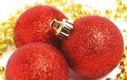 红色圣诞节彩球图片 圣诞树彩球图片 五彩圣诞节彩球壁纸 节日壁纸