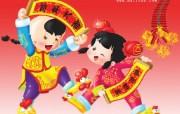 喜庆中国新年农历新年春节壁纸鸡年壁纸 节日壁纸
