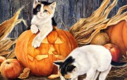 艺术的Halloween万圣节插画壁纸 节日壁纸