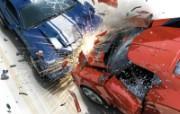 红色主题汽车游戏壁纸 静物壁纸