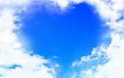 爱心蓝天白云(多分辨 精选壁纸