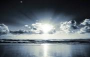 清晨海滩 精选壁纸