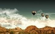 山脉氢气球 精选壁纸