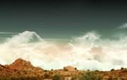 山脉 氢气球 壁纸61600x1200 山脉氢气球 精选壁纸