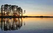 午夜太阳 瑞典 多分辨率 壁纸31280x800 午夜太阳瑞典(多分 精选壁纸