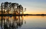 午夜太阳 瑞典 多分辨率 壁纸61400x1050 午夜太阳瑞典(多分 精选壁纸