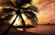 夕阳海湾 精选壁纸