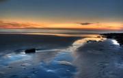 夕阳沙滩 精选壁纸