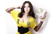 足球宝贝美女 多分辨率 壁纸81680x1050 足球宝贝美女(多分辨 精选壁纸