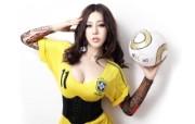 足球宝贝美女 多分辨率 壁纸101920x1200 足球宝贝美女(多分辨 精选壁纸