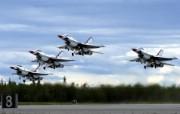 美国空军USAF的雷鸟 USAF Thunderbirds 壁纸1 美国空军USAF的雷 军事壁纸