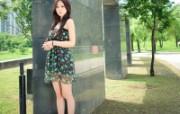 公园美女桌面壁纸下载 明星壁纸