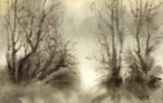 中国风 朦胧写意水彩画宽屏壁纸 壁纸3 中国风:朦胧写意水彩 明星壁纸