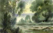 中国风 朦胧写意水彩画宽屏壁纸 壁纸6 中国风:朦胧写意水彩 明星壁纸