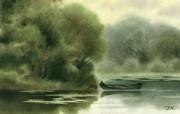 中国风 朦胧写意水彩画宽屏壁纸 壁纸7 中国风:朦胧写意水彩 明星壁纸