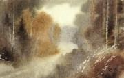 中国风 朦胧写意水彩画宽屏壁纸 壁纸15 中国风:朦胧写意水彩 明星壁纸