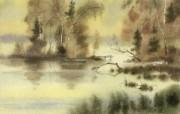 中国风 朦胧写意水彩画宽屏壁纸 壁纸18 中国风:朦胧写意水彩 明星壁纸