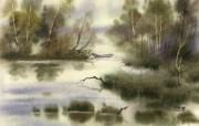 中国风 朦胧写意水彩画宽屏壁纸 壁纸26 中国风:朦胧写意水彩 明星壁纸