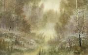 中国风 朦胧写意水彩画宽屏壁纸 壁纸27 中国风:朦胧写意水彩 明星壁纸
