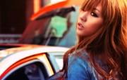 名爵MG6美女模特 汽车壁纸