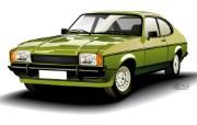 矢量风格古董车手绘名车 汽车壁纸