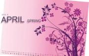 2010年四月手绘日历壁纸 2010年四月手绘日历壁纸 其他壁纸