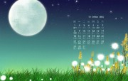金秋十月精美日历壁纸 金秋十月精美日历壁纸 其他壁纸