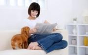 美女与宠物壁纸 美女与宠物壁纸 其他壁纸
