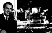One Giant Leap for Mankind Nixon Telephones Armstrong on the Moon 尼克松和阿姆斯壮月球对话 阿波罗11号登月40周年纪念壁纸 人文壁纸