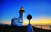 HDR 澳洲悉尼 黎明的灯塔壁纸 澳洲悉尼风景摄影集 人文壁纸