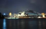 HDR 澳洲悉尼 悉尼歌剧院夜景壁纸 澳洲悉尼风景摄影集 人文壁纸