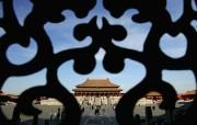 北京印象 国家地理摄影师眼中的北京新风貌 窗饰后的紫禁城金銮殿 Beijing The Forbidden City 北京印象国家地理摄影师眼中的北京新风貌 人文壁纸