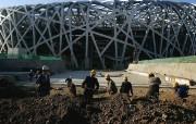 北京印象 国家地理摄影师眼中的北京新风貌 还在施工中的国家体育场 鸟巢 Beijing National Stadium 北京印象国家地理摄影师眼中的北京新风貌 人文壁纸