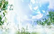 城市与绿化 环保主题设计壁纸 城市与环境数码合成图片 城市绿化主题PS壁纸 人文壁纸