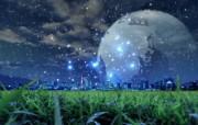 城市与绿化 环保主题设计壁纸 城市之夜 环保概念合成图片 城市绿化主题PS壁纸 人文壁纸