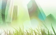 城市与绿化 环保主题设计壁纸 城市高楼大厦合成壁纸 城市绿化主题PS壁纸 人文壁纸