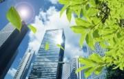 绿色都市 环保主题PS设计壁纸 城市高楼大厦合成壁纸 城市绿化主题PS壁纸 人文壁纸