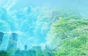 城市与绿化 环保主题设计壁纸 绿化与城市 环保主题合成图片 城市绿化主题PS壁纸 人文壁纸