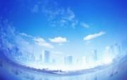 城市与环境 环保主题设计壁纸 城市天空 环保主题数码合成壁纸 城市与环保主题设计壁纸 人文壁纸
