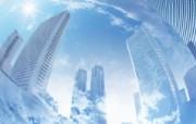 城市与环境 环保主题设计壁纸 高楼与蓝天 城市环境主题PS设计壁纸 城市与环保主题设计壁纸 人文壁纸