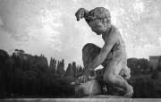 纯粹的光影美学 人文建筑黑白摄影壁纸 Giardini di Boboli Florence 佛罗伦萨波波里花园桌面壁纸 纯粹的光影美学人文建筑黑白摄影壁纸 人文壁纸