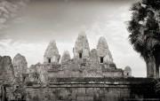 纯粹的光影美学 人文建筑黑白摄影壁纸 Pre Rup Temple Cambodia 柬埔寨吴哥窟的变身塔桌面壁纸 纯粹的光影美学人文建筑黑白摄影壁纸 人文壁纸