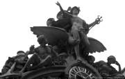 纯粹的光影美学 人文建筑黑白摄影壁纸 The Grand Central Icon New York 纽约中央车站雕像桌面壁纸 纯粹的光影美学人文建筑黑白摄影壁纸 人文壁纸