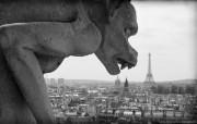 纯粹的光影美学 人文建筑黑白摄影壁纸 Nosferatu Paris 巴黎吸血鬼石像桌面壁纸 纯粹的光影美学人文建筑黑白摄影壁纸 人文壁纸