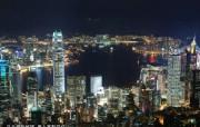 东西文化交融的动感都市 香港特色旅游壁纸 从天平山顶俯瞰都会夜色 桌面壁纸 东西文化交融的动感都市香港特色旅游壁纸 人文壁纸