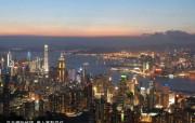 东西文化交融的动感都市 香港特色旅游壁纸 夕阳斜晖下的繁华香港 桌面壁纸 东西文化交融的动感都市香港特色旅游壁纸 人文壁纸